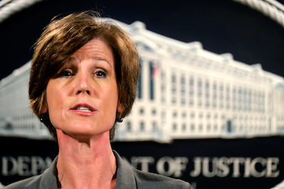 Truthdigger of the Week: Sally Yates, Fired for Defying Trump's Immigration Order