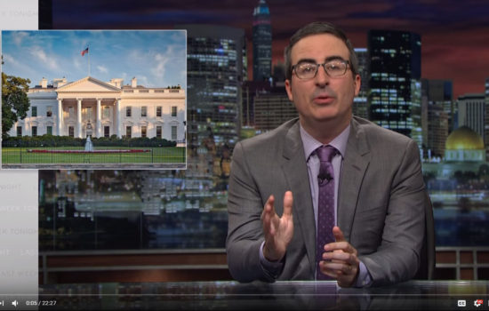John Oliver: It's Dangerous to Think of Ivanka Trump and Jared Kushner as a Moderating Force (Video)
