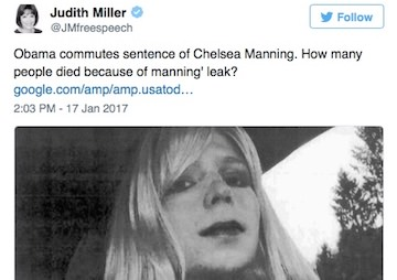 Discredited Former New York Times Reporter Disregards Her Own Record While Smearing Chelsea Manning