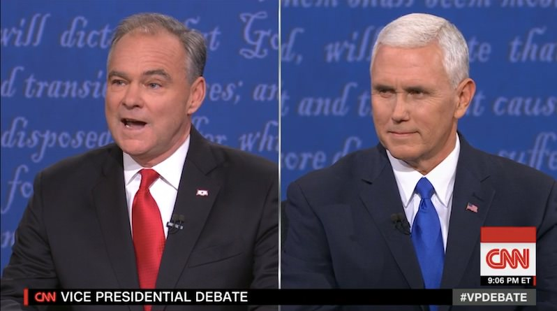 VP Debate: Tim Kaine Puts Mike Pence on the Defensive as Candidates Take On Issues, and Each Other