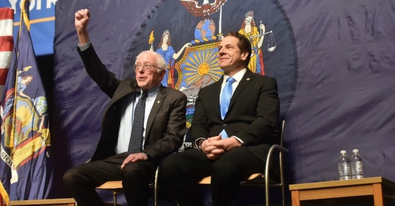Alongside Bernie Sanders, N.Y.'s Gov. Andrew Cuomo Announces First-in-Nation Free Tuition Plan