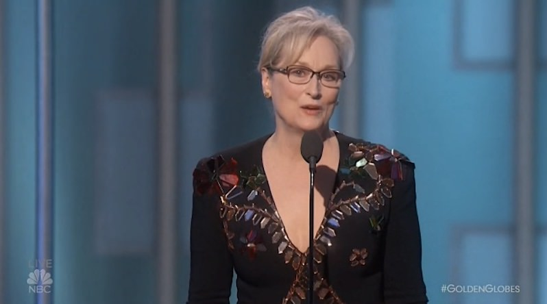 Hollywood Gets a Clue About Inclusion, Meryl Streep Gets Political at 2017 Golden Globes (Video)
