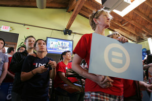 Gay Rights Group Puts Marriage Fight on Hold