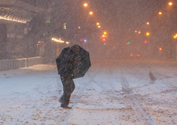 Low-Wage Workers Forced to Slog Through 'Snowmageddon'