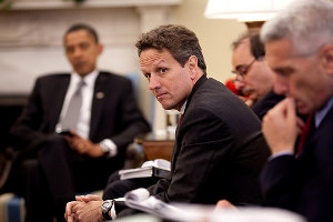Will Timothy Geithner Lead Us Over or Around the Fiscal Cliff?