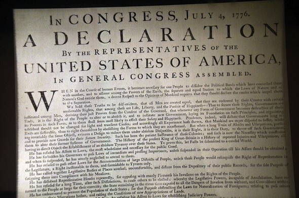 Have We Been Misreading the Declaration of Independence?