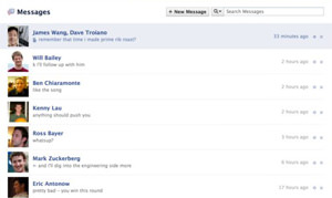 Facebook Is Too Cool for E-Mail