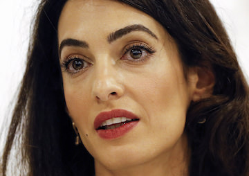 Azerbaijan Attacks Amal Clooney for Supporting Jailed Journalist