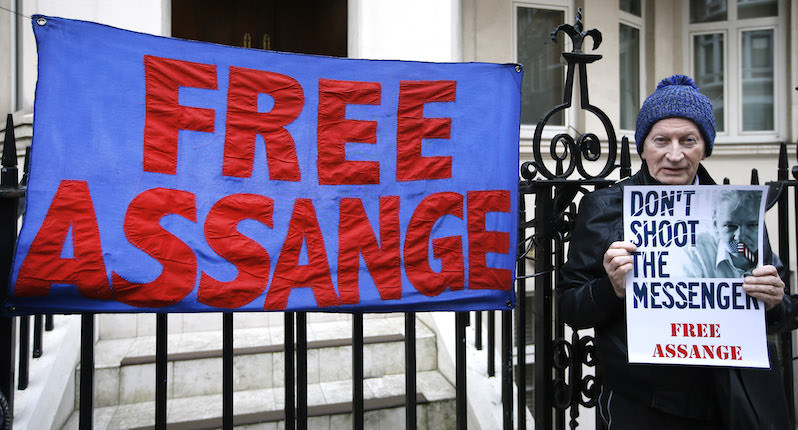 Julian Assange 'Arbitrarily Detained,' a U.N. Panel Has Found