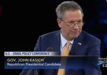 The 'Grown-Up' in the GOP Race: John Kasich Is Far From a Kindly Father Figure to the Palestinians