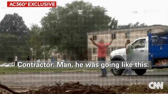 Video Shows Witness Saying Michael Brown Had Hands Up When Killed (Video)