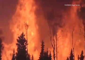 VIDEO: Massive Wildfires Force Thousands to Flee in Saskatchewan