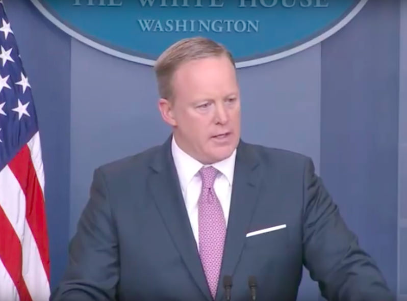 Spicer Shuts Down Questions on Trump Tweet During Friday Press Briefing