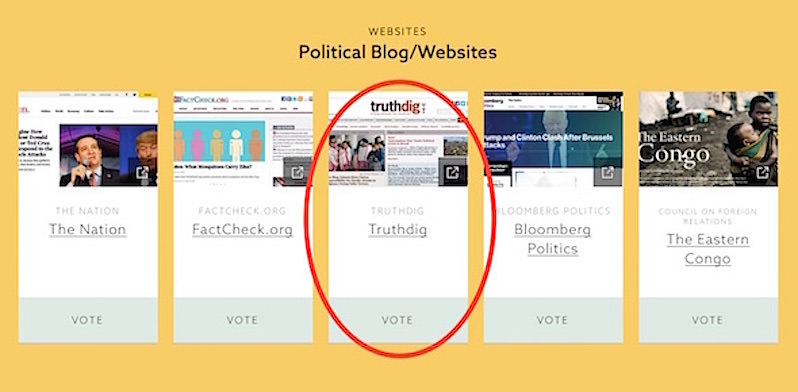 Vote for Truthdig to Win Webby Award for Best Political Blog/Website
