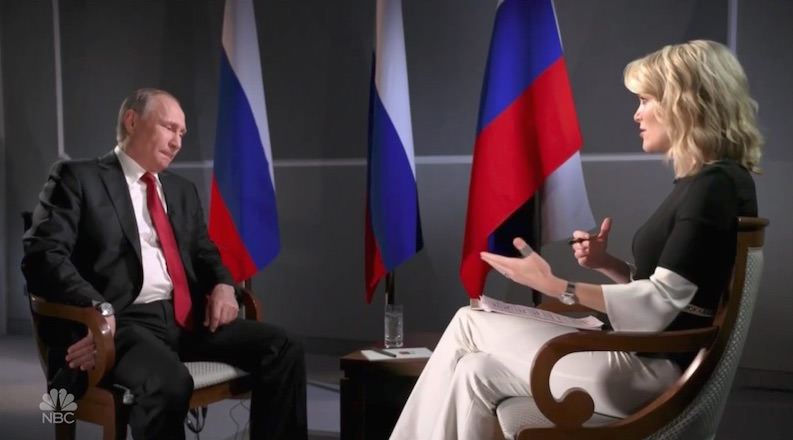 NBC's Megyn Kelly Pushes Intelligence Groupthink in Vladimir Putin Interview
