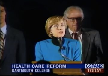 Clinton Health Care Hit Backfires as Evidence Shows Sanders Literally Right Behind Her