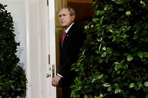 Bush Makes Cameo Appearance at White House