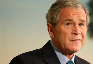 Shoes and Boos for Outgoing Bush