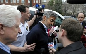 George Clooney Cuffed at Sudanese Embassy Protest
