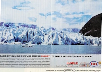 ExxonMobil -- More Than 50 Proud Years of Melting Glaciers