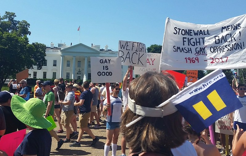 Pride and Defiance: LGBTQ Marchers Make a Showing at the White House