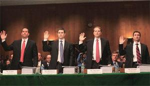 Senators Grill Goldman Execs About Their 'Shitty Deal'
