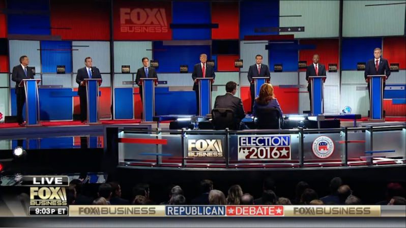 The Sixth GOP Debate: Seven Candidates Get Down to Dollars and Cents