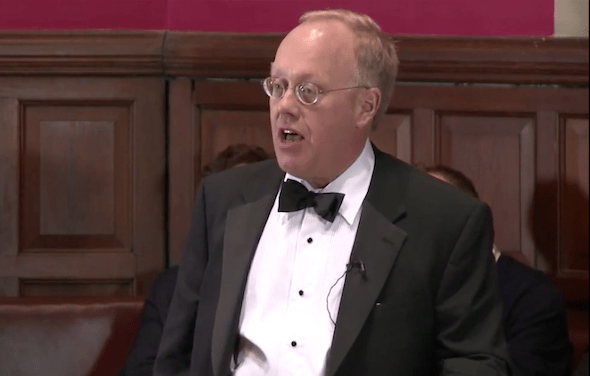 Chris Hedges at Oxford University: Is Edward Snowden a Hero?