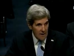 Kerry Responds to Anti-War Protester During Confirmation Hearing