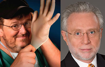 Michael Moore Rips Into CNN's Wolf Blitzer