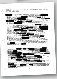 Redacted reports