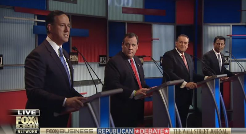 The Fourth GOP Debate, Round 1: Christie Takes Shots at Clinton, Jindal Takes Shots at Everybody