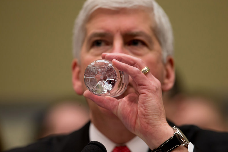 A Day of Reckoning for Michigan Gov. Rick Snyder? Let's Raise a Glass of Clean Water to That