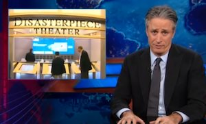 Stewart Bashes George W. Bush Library as 'Disasterpiece Theater'