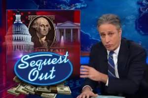 'The Daily Show': Jon Stewart Rips 'Incompetent' Congress Over Sequester