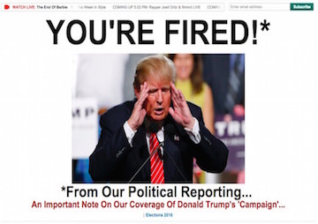 The Huffington Post Has 'Fired' Donald Trump From Its Political Coverage