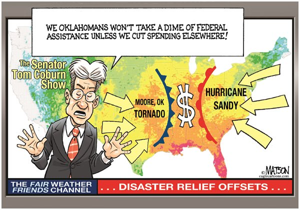 Senator Coburn Wants Offsets for Federal Disaster Relief