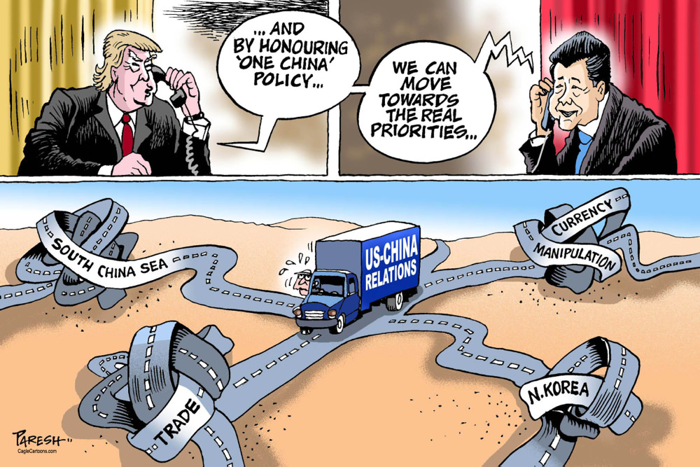 China Policy [a cartoon from the United Arab Emirates]