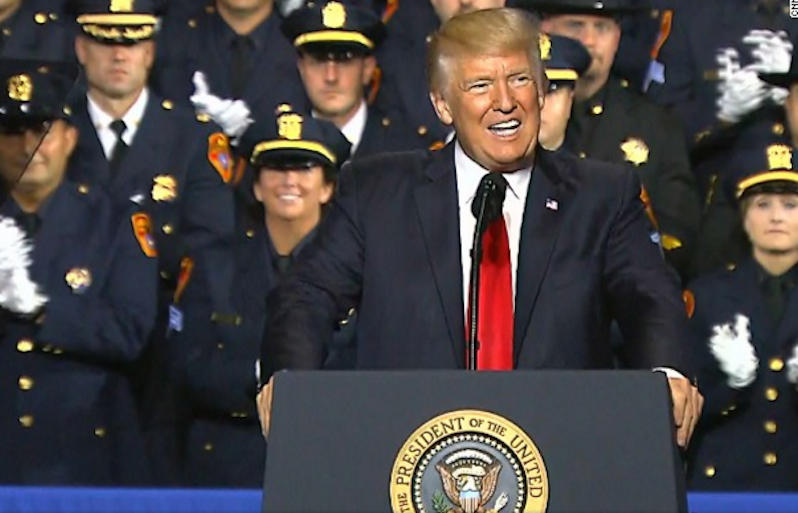Trump's Get-Tough Speech to Police Touches Off a Backlash