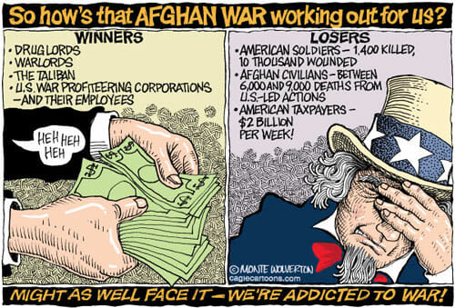 Addicted to the Afghan War
