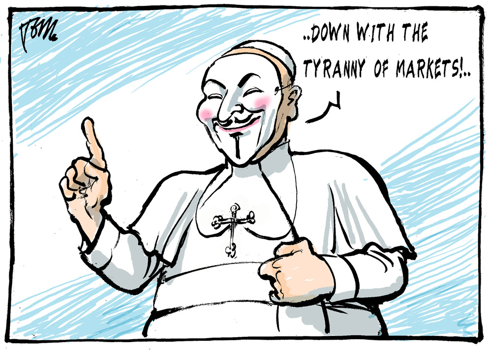 Pope Against Tyranny of Markets