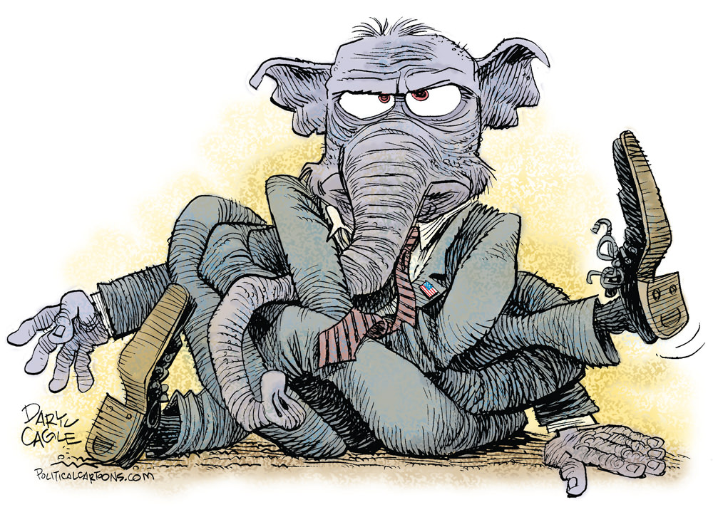 GOP Tied Up in a Knot