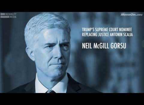 Neil Gorsuch Shouldn't Be Confirmed Until Donald Trump's Presidential Legitimacy Is Proved (Video)