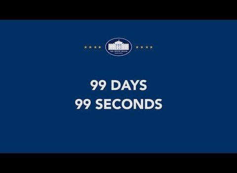 Trump's First 99 Days in 99 Seconds (Video)