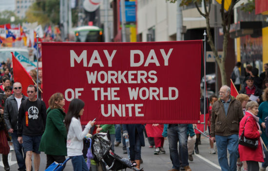 Demonstrators at May Day Rallies Worldwide Demand Workers' Rights