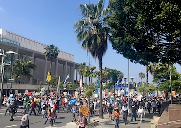 Angelenos Press for Change in California With Fossil Fuel Industry Protest