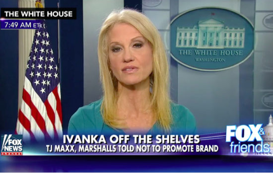 Ethics Experts: Kellyanne Conway Broke Law by Promoting Ivanka Trump Brand
