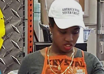 Employee Wearing 'America Was Never Great' Hat Receives Death Threats