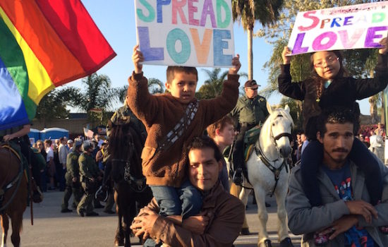 Scenes From a Protest: When Activists Joined Forces at Trump's Orange County Stump Speech (Photos)