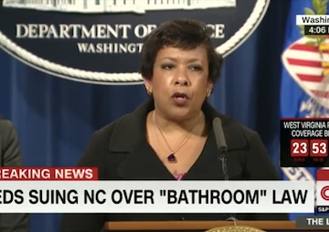 Loretta Lynch Accuses NC of 'State-Sanctioned Discrimination' as DOJ Files Civil Rights Lawsuit